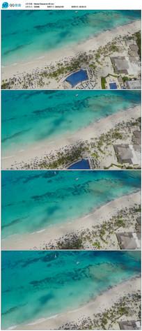 海边沙滩高空拍摄视频素材