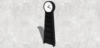 黑色立式时钟