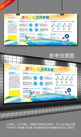 简约企业文化墙宣传栏