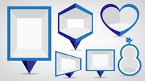几何形状空白文字框背景 EPS