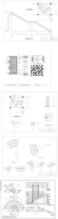酒店螺旋楼梯CAD图