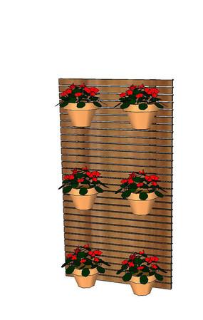 盆栽墙SU模型