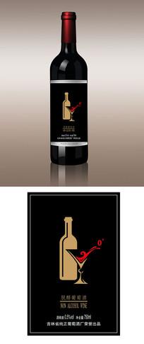 葡萄酒瓶标不干胶