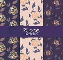 手绘玫瑰花纹包装图案