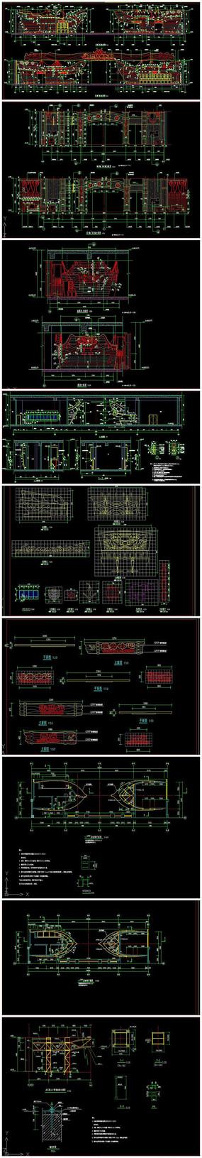 水乐园入口CAD施工图