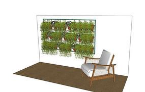 庭院垂吊植物墙