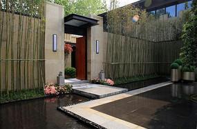 原创设计稿 方案意向 铺装 庭院地面砖拼铺装  中式庭院铺装意向图图片