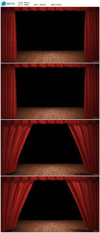 舞台表演幕布动态背景视频