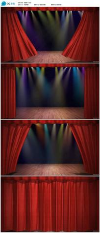 舞台幕布拉开合上视频素材