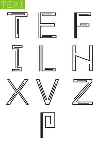 英语字母艺术字体变形 CDR