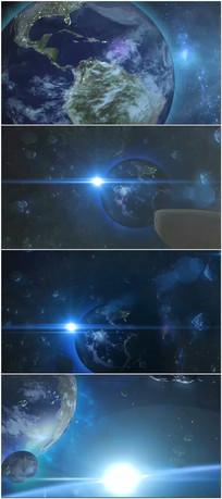 宇宙太阳地球小行星带飞船视频