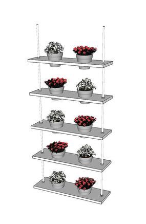 植物盆栽架SU模型
