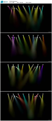 彩色舞台聚光灯背景视频
