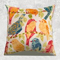 彩色小鸟抱枕