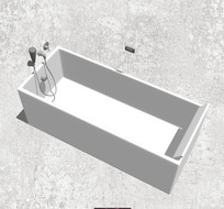 方形洗澡盆