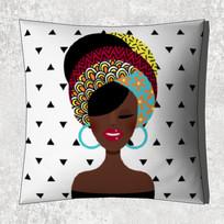 非洲少女图案抱枕