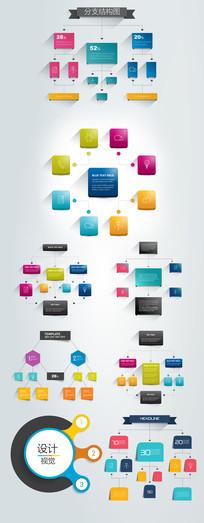 分支结构图设计元素 AI
