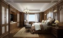 古典雅致卧室效果图