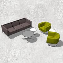 咖色组合沙发