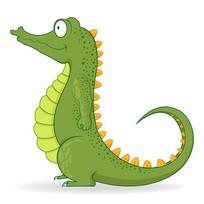 卡通鳄鱼插画  EPS