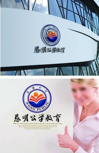 蓝色高端教育logo