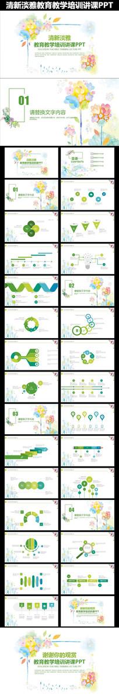 绿色清新教育教学课件公开课动态PPT