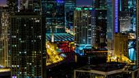 美国城市夜景实拍素材