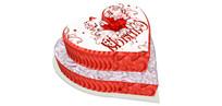 双层心形蛋糕 skp
