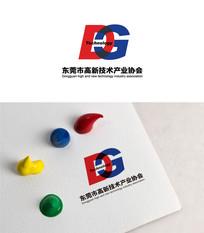 双色字母创意logo