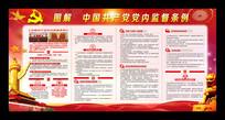 图解 中国共产党党内监督条例展板
