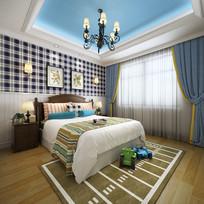 现代活力儿童卧室效果图