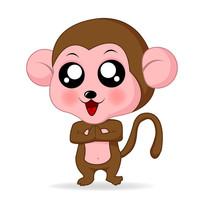 小猴子插画  EPS
