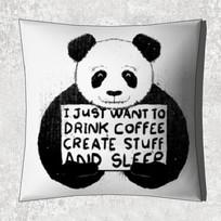 熊猫图案抱枕