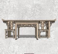 中式花纹桌