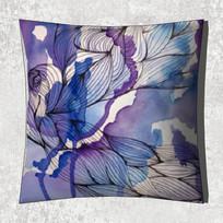 紫色抽象手绘抱枕