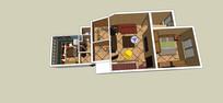 地中海风格室内家装模型