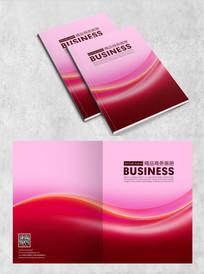 红色简约科技画册封面