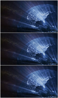 科技地球光线粒子视频