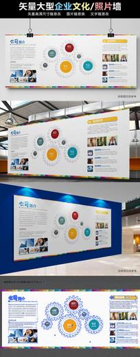 企业文化墙形象墙公司简介展板