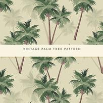 东南亚棕榈树墙纸图案