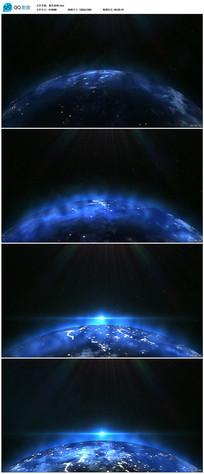 高清蓝色地球视频 mov