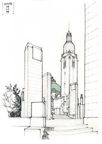 广场标志建筑