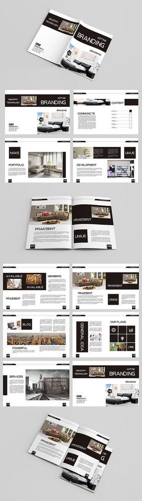 黑白风格现代简约装修公司宣传画册