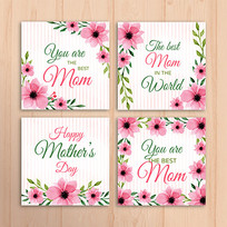 母亲节花店感谢卡设计模板