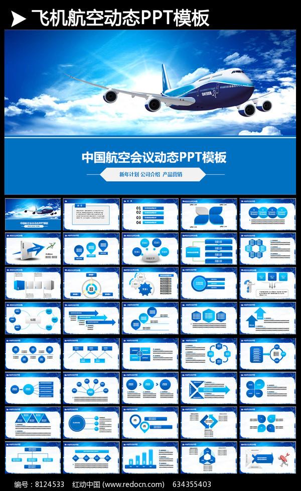 南方航空飞机空运机场安检ppt模板