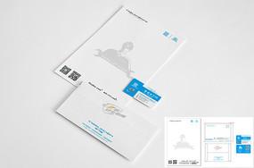 企业VI信纸信封名片设计
