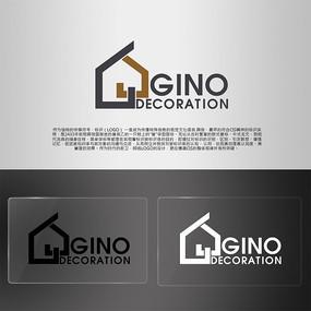 字母G建筑灰色LOGO