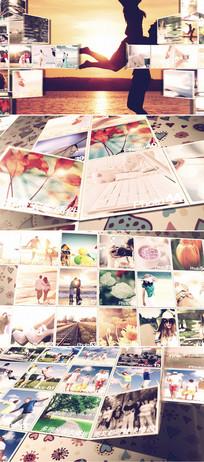 100张生活相片电子相册AE模板