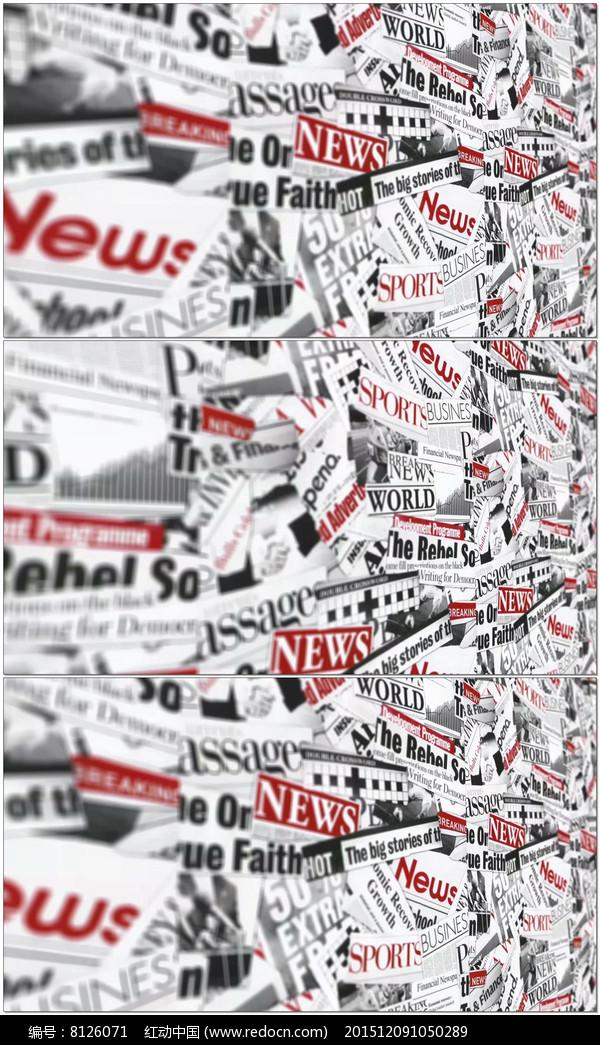 报纸剪贴墙视频图片