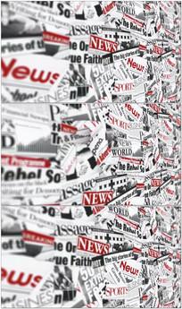 报纸剪贴墙视频